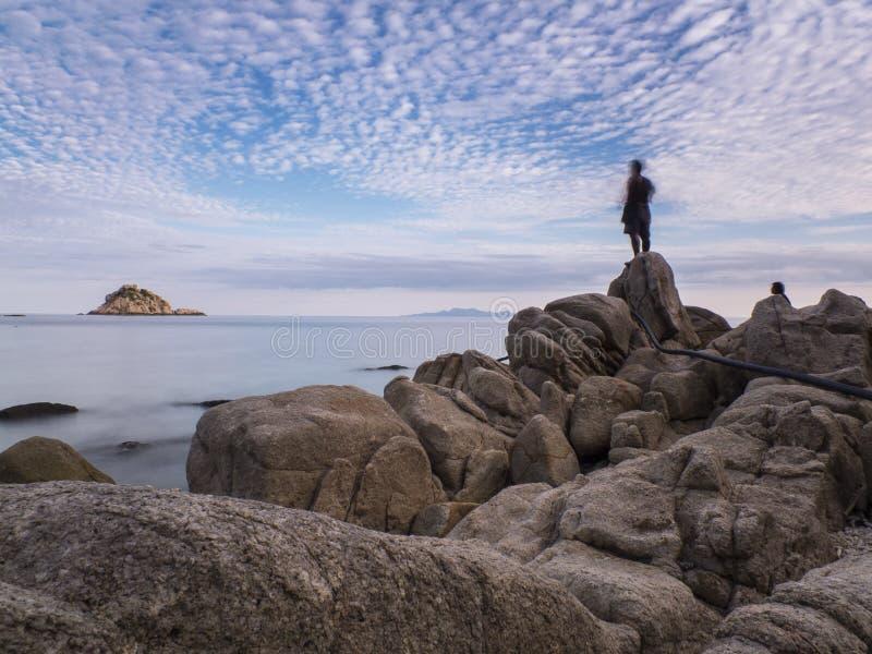 Pescatore Paradise Island Koh Tao fotografia stock libera da diritti