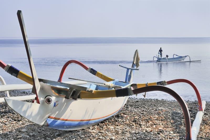 Pescatore tradizionale di balinese fotografie stock libere da diritti