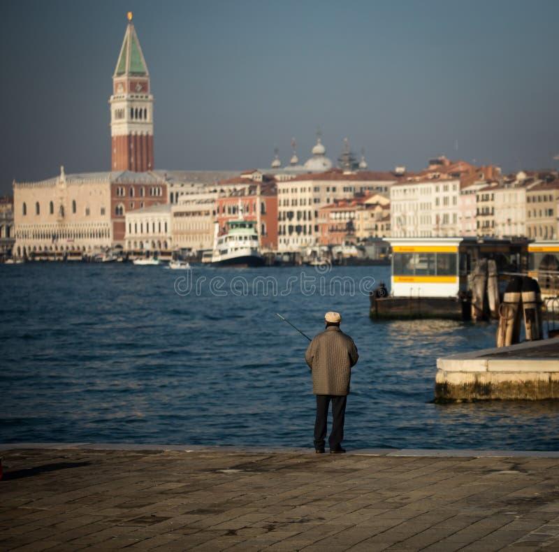 Pescatore Venezia fotografie stock
