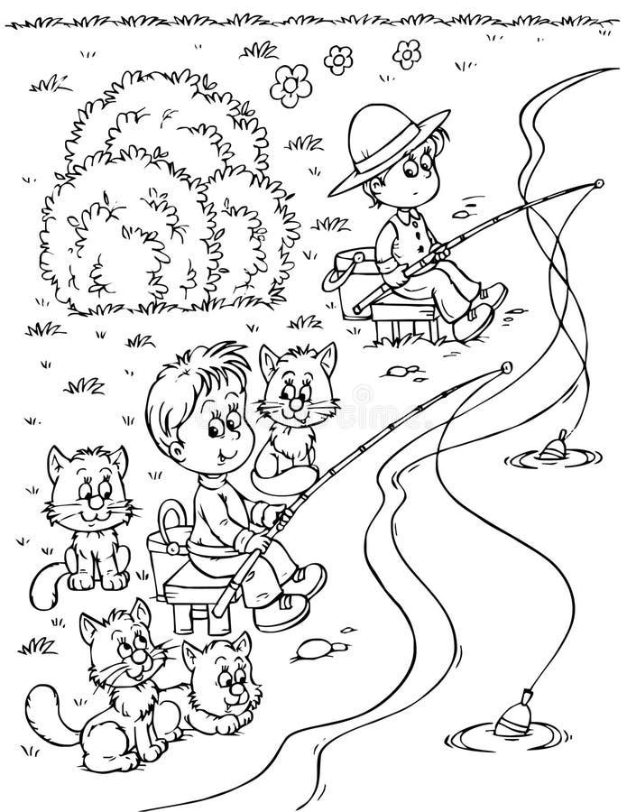 Pescatori illustrazione vettoriale