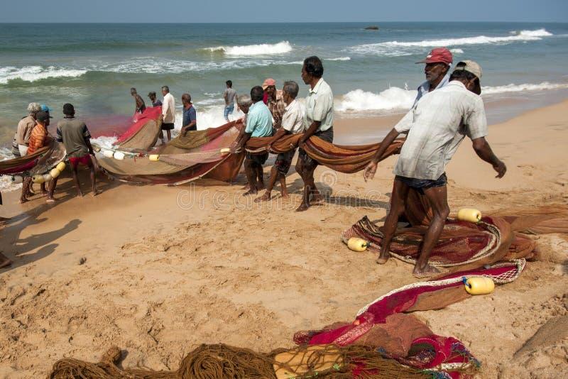 Pescatori dalla Sri Lanka fotografie stock