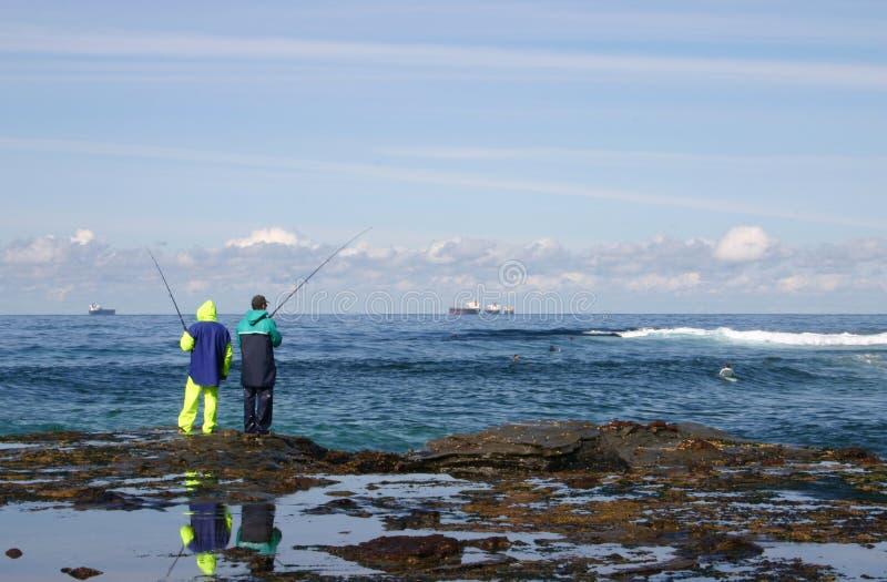 Pescatori della roccia fotografia stock