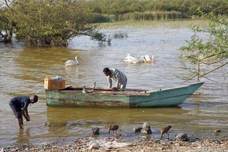 Pescatore etiopico fotografia stock