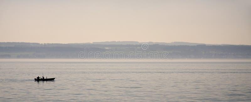 Pescatori sul lago Constance immagini stock libere da diritti