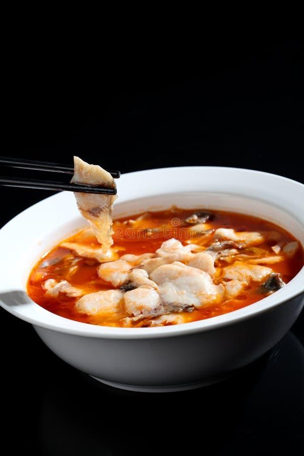 Pesce alimento-marinato cinese fotografie stock