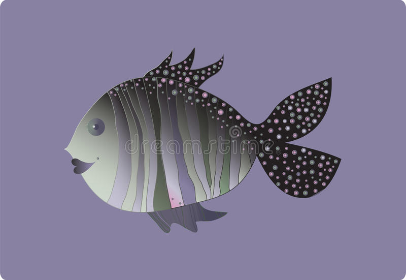 Pesce amichevole illustrazione di stock