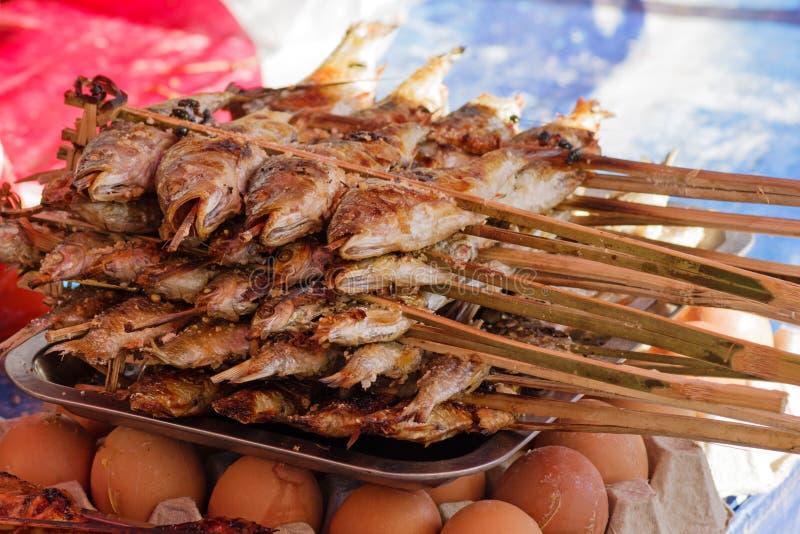 Pesce arrostito del Laos fotografia stock