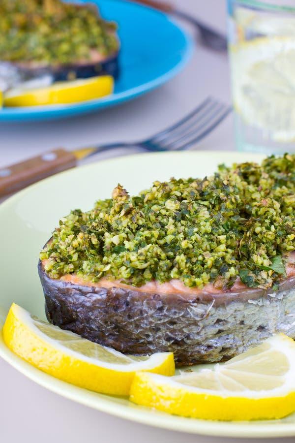Pesce crusted erba fotografie stock libere da diritti