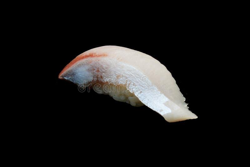 Pesce dei sushi di Hamachi, dei sushi di Buri o della ricciola, pesce di Fusiler della ricciola su riso giapponese fotografia stock