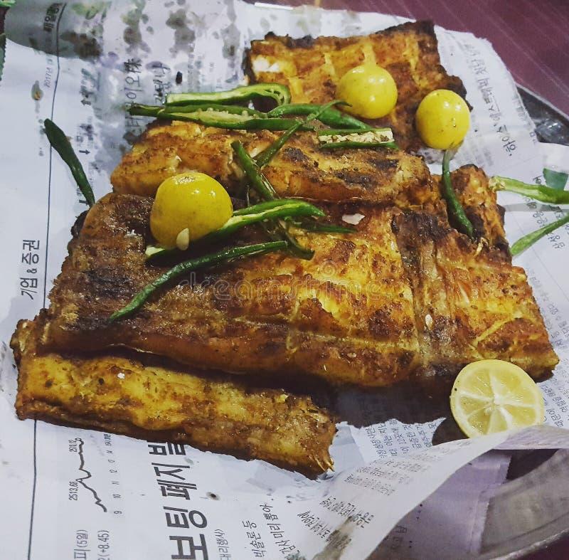 Pesce del BBQ immagine stock