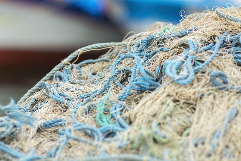 Pesce nella rete, struttura di rete da pesca fotografia stock libera da diritti