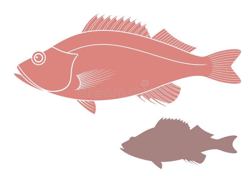 Pesce persico astratto illustrazione di stock