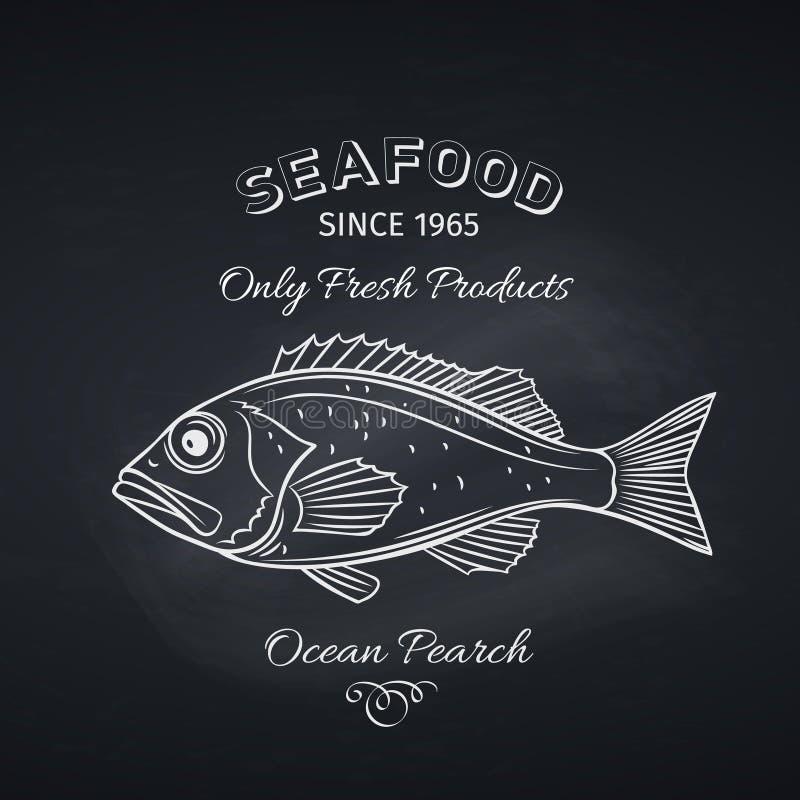 Pesce persico disegnato a mano illustrazione di stock