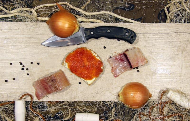 Pesce salato cucinato dopo il fermo fotografie stock libere da diritti