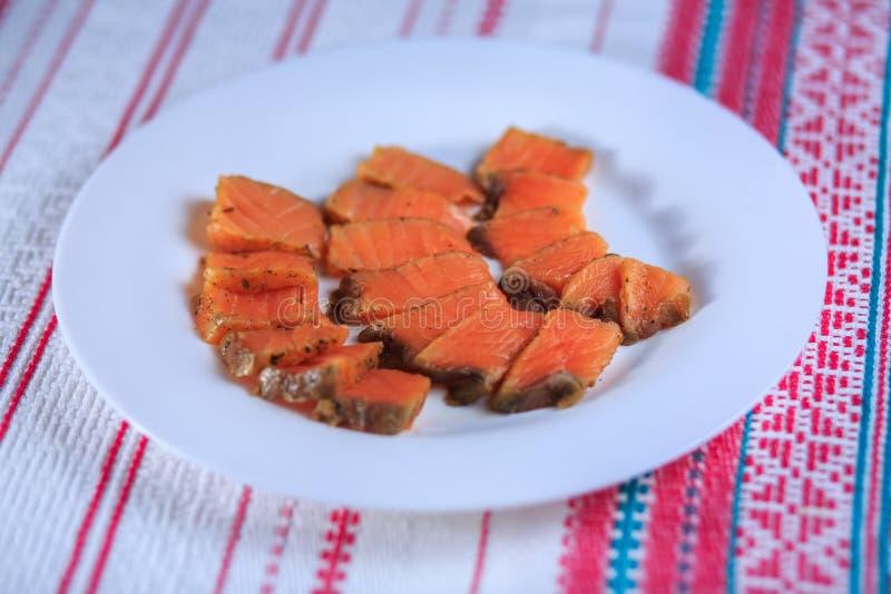Pesce salato rosso fotografie stock libere da diritti