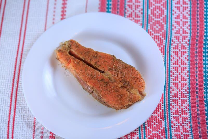 Pesce salato rosso fotografia stock