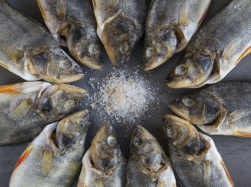 Pesce salato secco - pesce di riserva fotografia stock