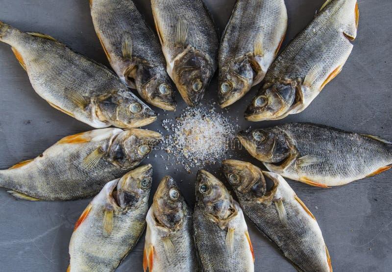 Pesce salato secco - pesce di riserva immagine stock
