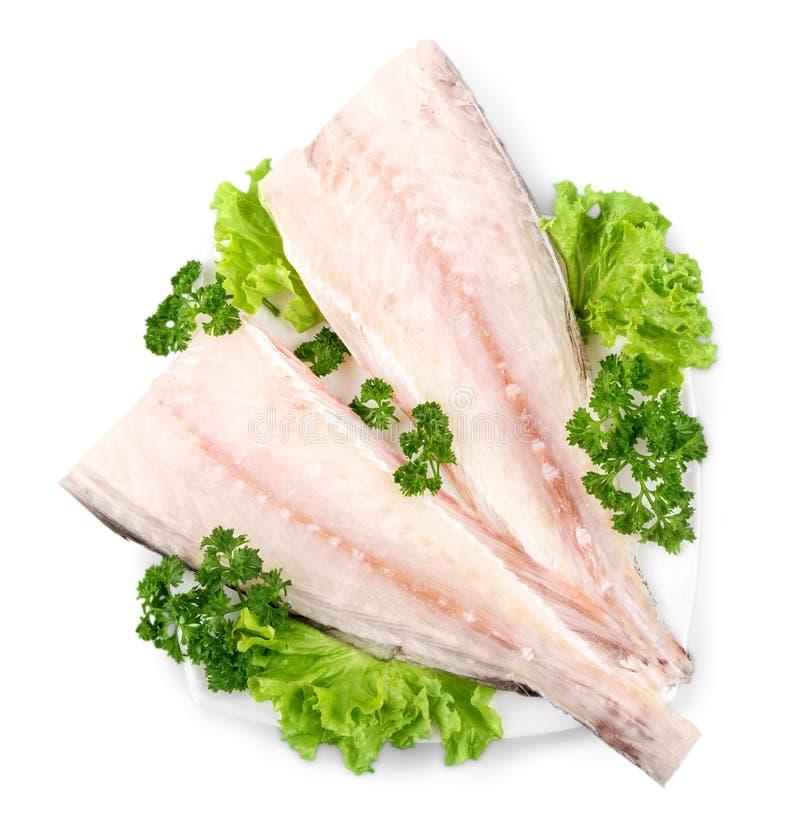Download Pesce Saporito In Piatto Bianco Isolato Su Bianco Fotografia Stock - Immagine di alimento, fresco: 117976330