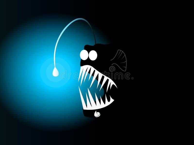 Pesce spaventoso della lanterna fotografie stock libere da diritti