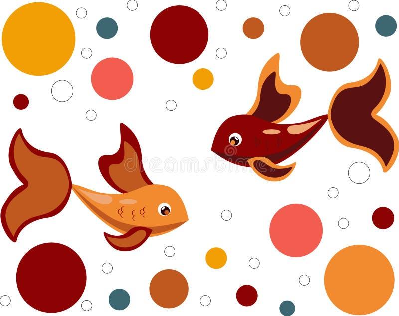 Pesce variopinto su un fondo bianco royalty illustrazione gratis