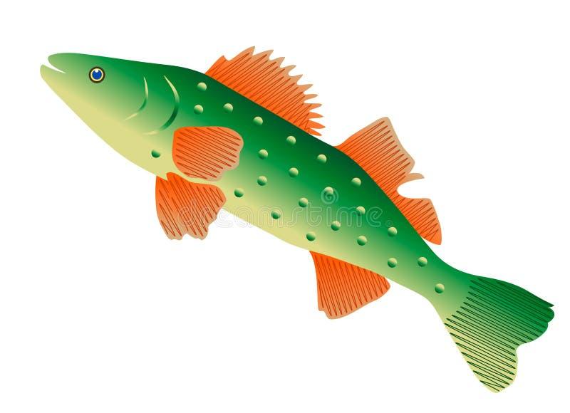 Pesce verde, illustrazione royalty illustrazione gratis