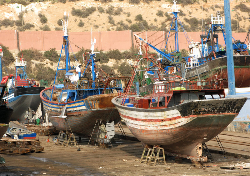 Pescherecci a Agadir fotografie stock libere da diritti