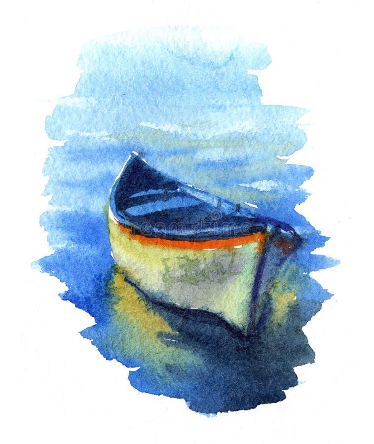 Pescherecci dell'acquerello illustrazione di stock