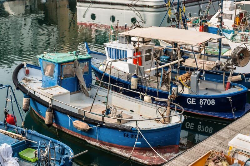 Pescherecci a Genova, Italia fotografia stock libera da diritti