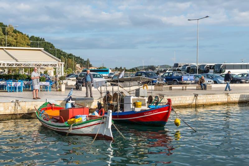 Pescherecci in Katakolon, Grecia fotografia stock libera da diritti