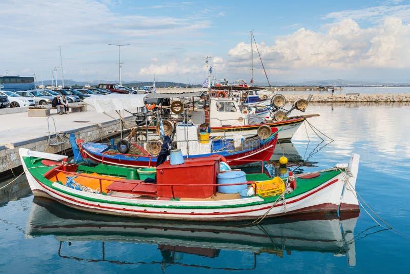 Pescherecci in Katakolon, Grecia immagini stock