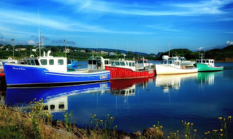Pescherecci l'isola del Capo Bretone fotografie stock