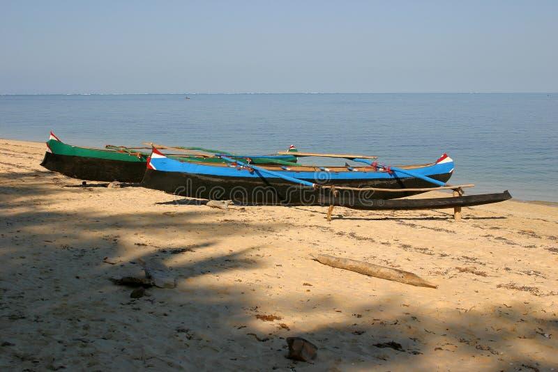 Pescherecci sulla spiaggia immagine stock libera da diritti
