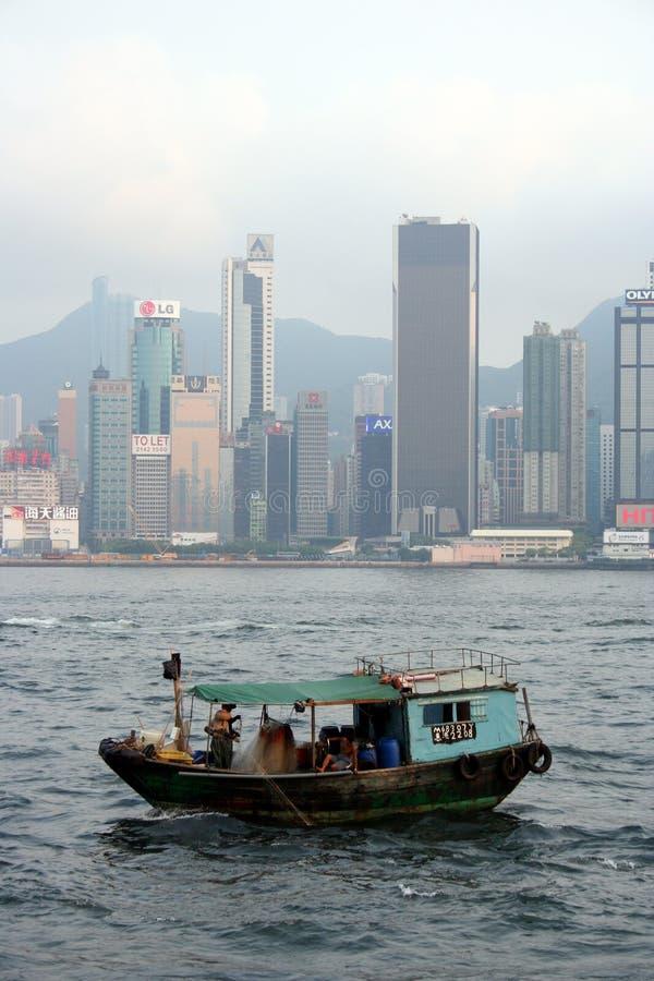 Peschereccio di Hong Kong fotografia stock