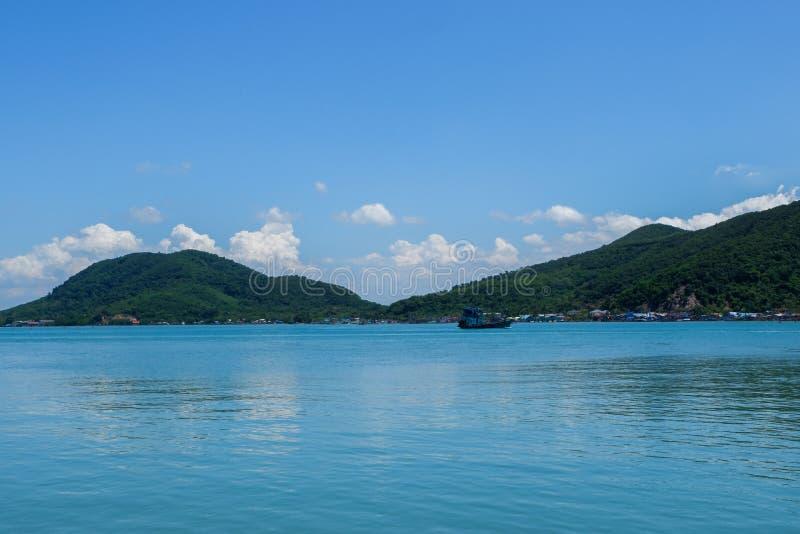Peschereccio nel lago Songkhla fotografia stock libera da diritti