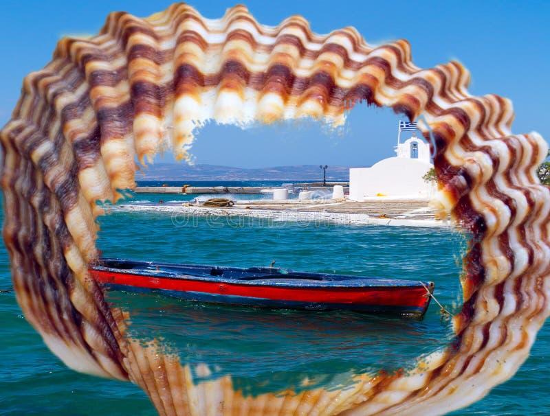 Peschereccio tradizionale, Grecia fotografia stock