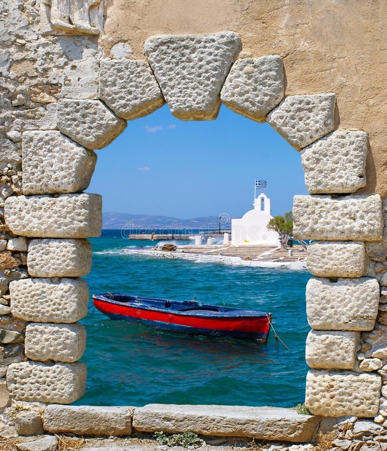 Peschereccio tradizionale, Grecia fotografie stock
