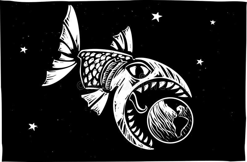 Peschi il cibo della terra illustrazione di stock