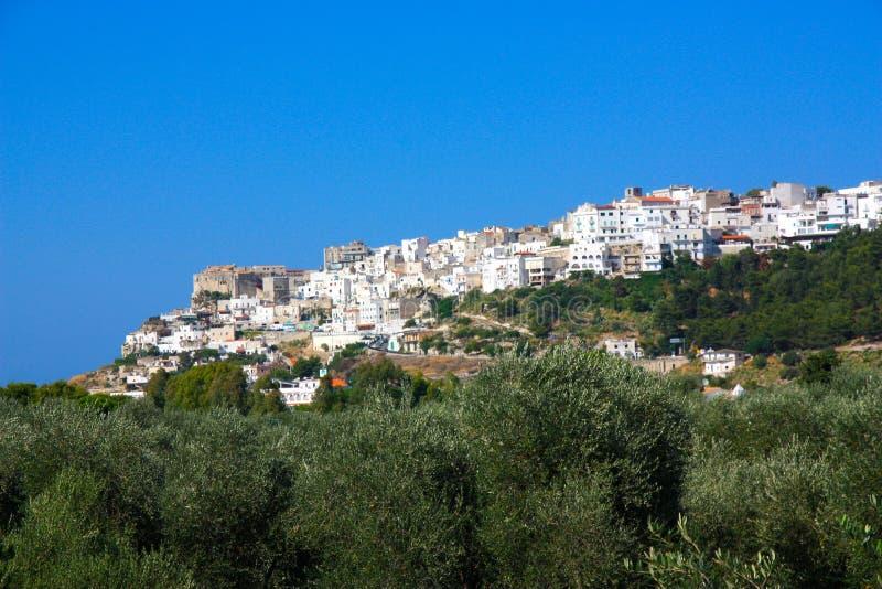 Peschici in Apulia, Italien stockfoto