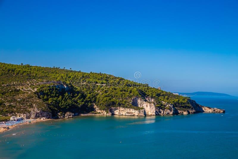 Peschici Beach - Apulia, Gargano, Puglia, Italy. Peschici Beach - Apulia, Gargano Peninsula, Puglia, Southern Italy royalty free stock photos