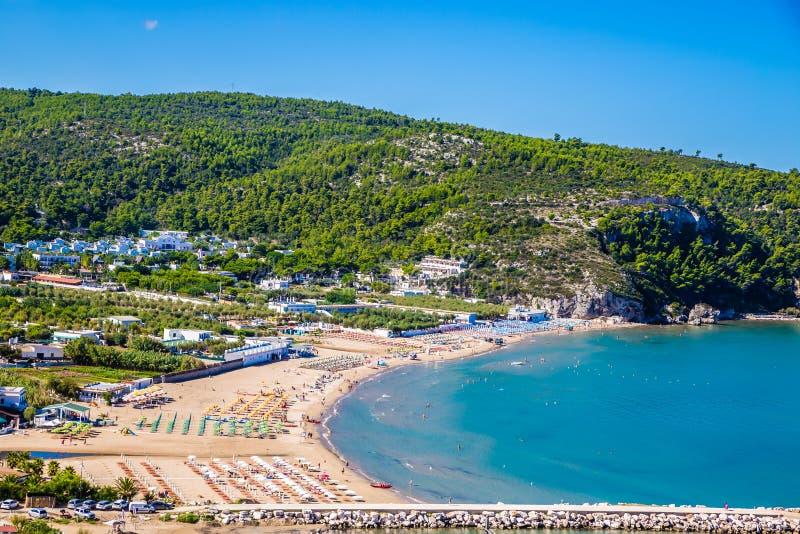Peschici Beach - Apulia, Gargano, Puglia, Italy. Peschici Beach - Apulia, Gargano Peninsula, Puglia, Southern Italy stock images