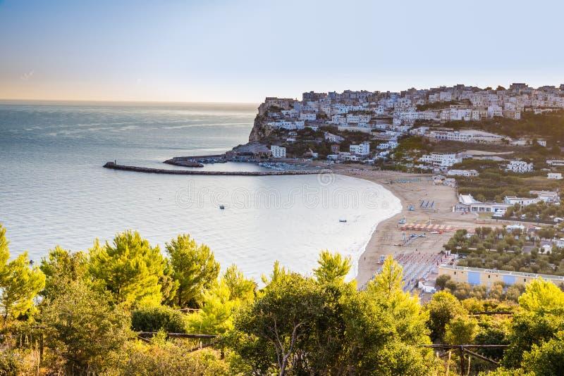 Peschici Beach - Apulia, Gargano, Puglia, Italy. Peschici Beach - Apulia, Gargano Peninsula, Puglia, Southern Italy stock photos
