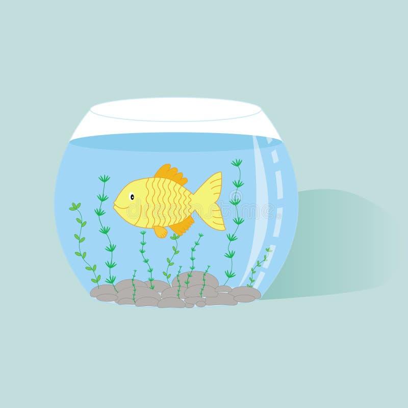 Pesci in acquario illustrazione di stock