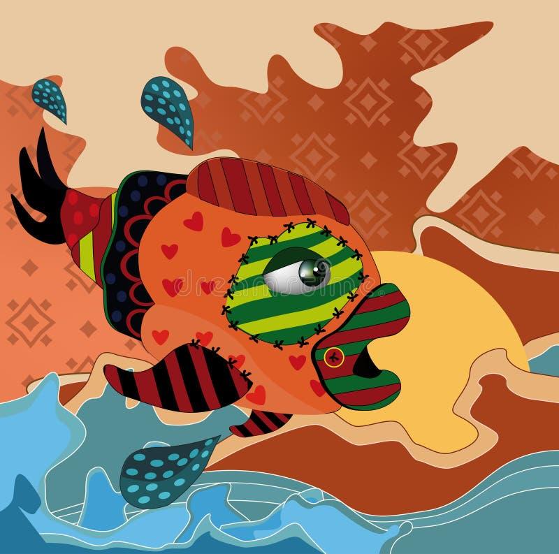 Pesci astratti illustrazione di stock