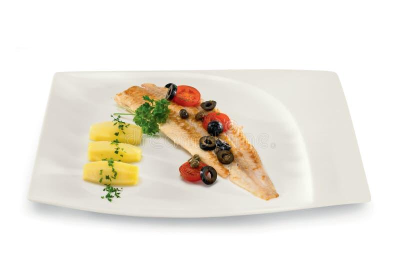 Pesci con le olive immagine stock libera da diritti