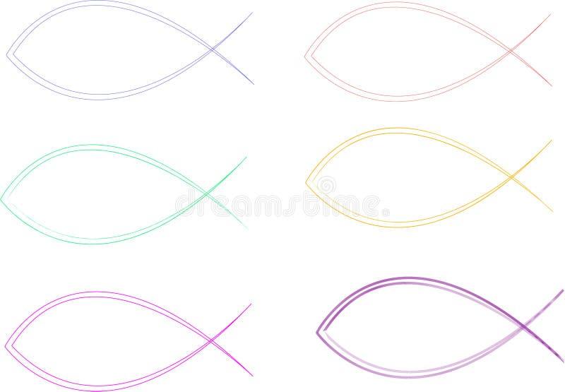 Pesci cristiani illustrazione di stock