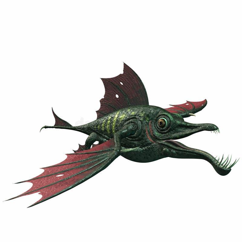 Pesci del drago di fantasia royalty illustrazione gratis