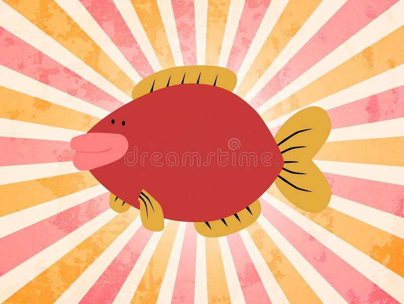 Pesci del fumetto illustrazione di stock