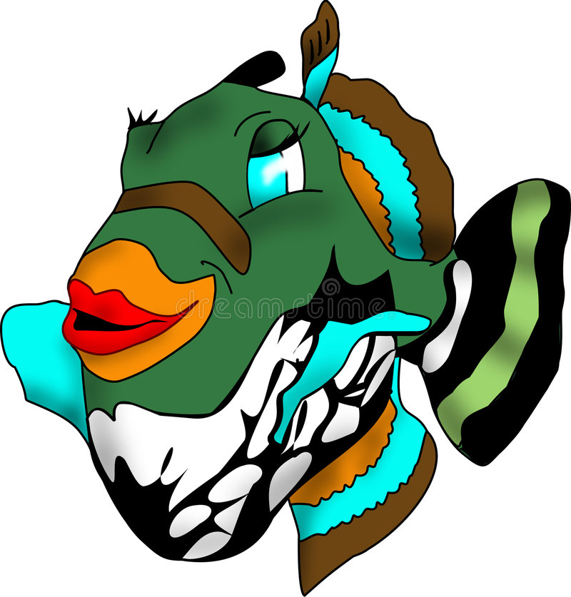 Pesci del pesce palla di Guineafowl illustrazione di stock