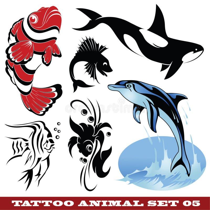 Pesci del tatuaggio illustrazione di stock